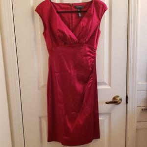 LAUREN Ralph Lauren Red Dress 4P